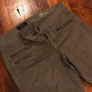 Jcrew toothpick jeans, size 29, olive color